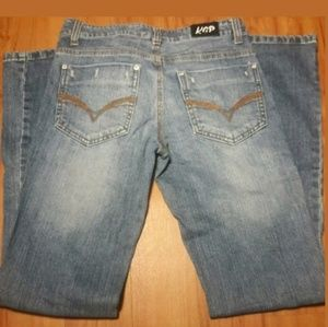 KCP Distressed Light Blue Denim Jeans Size 5/6